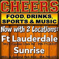 Cheers Sunrise and Fort Lauderdale