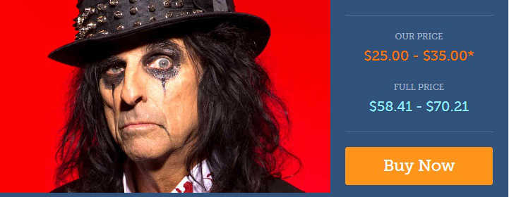 Alice Cooper Broward Center Discount Tickets