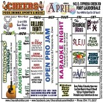 Cheers Calendar of Events