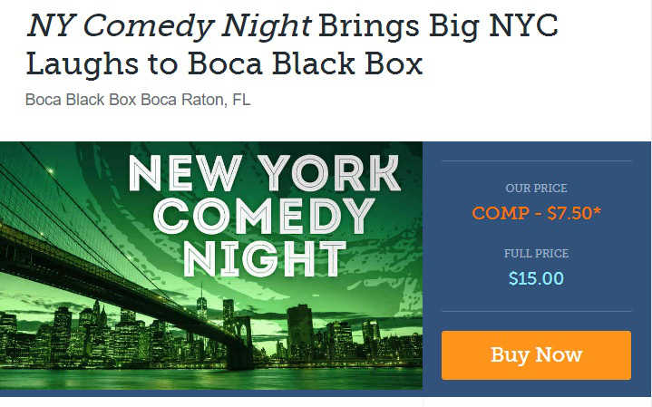 NY Comedy Night discount tickets