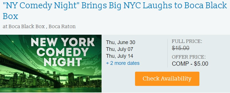New York Comedy Night July Discount Tickets