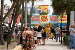 seafood fest food stands
