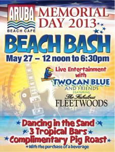 Aruba Beach Cafe Memorial Day Beach Bash