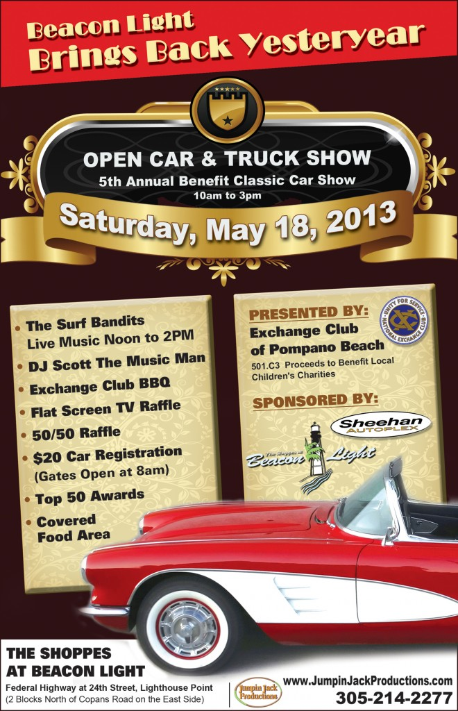 Th Annual Benefit Classic Car Show In Lighthouse Point - Pompano car show