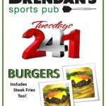 Burgers 2 for 1