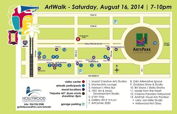 hollywood artwalk map