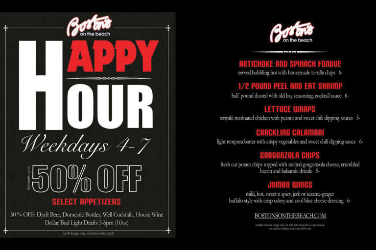 bostons specials happy hour