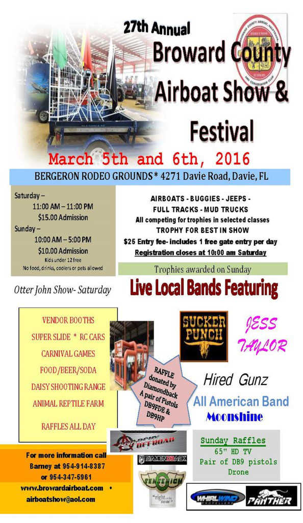 27th Annual Airboat Show Amp Festival In Davie