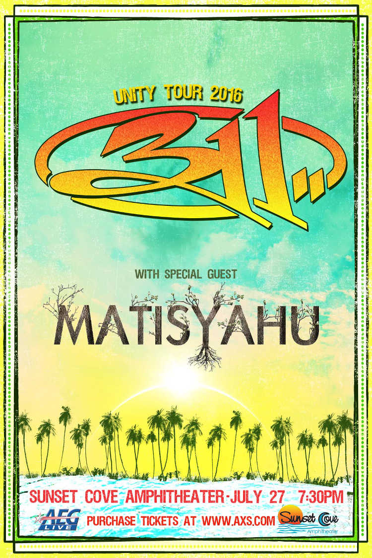 311 tour flyer July 27