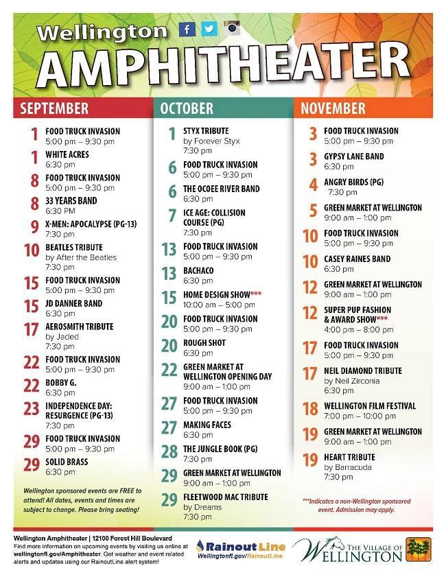 Wellington Amphitheater concerts