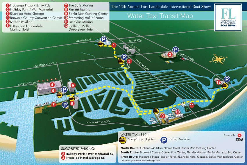 fort lauderdale boat show map