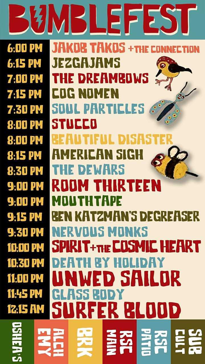 Bumblefest Schedule