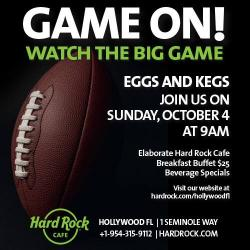 Eggs & Kegs at the Hard Rock Cafe this Sunday