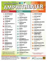 Fall Concerts at Wellington Amphitheater